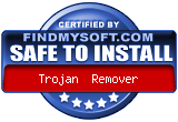 "Certified ""Safe To Install"" by findmysoft.com"