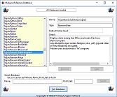 Database window - click to enlarge