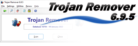 Trojan Remover Main screen